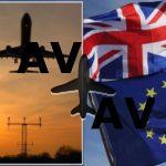 """Europa aceitou prolongar o prazo às companhias de aviação, no caso de um """"Brexit duro"""""""